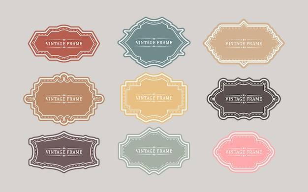 Ensemble de badges et d'étiquettes vintage rétro