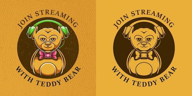 Ensemble de badges ours en peluche
