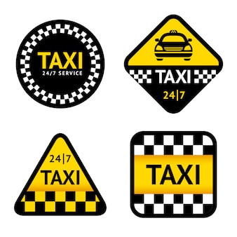 Ensemble de badges de taxi