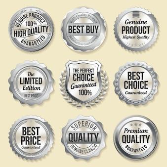 Ensemble de badges de vente au détail de luxe