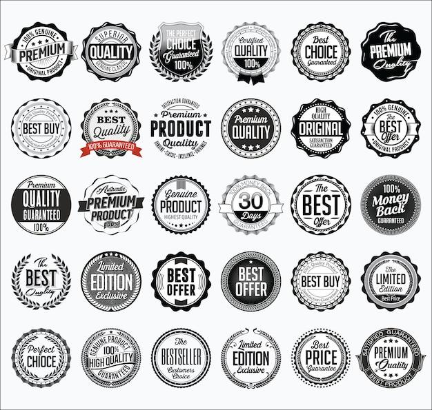 Ensemble de badges de vente au détail