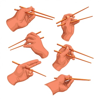 Ensemble de baguettes à main