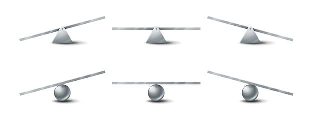 Ensemble de balançoires à bascule en métal à bascule d