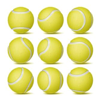 Ensemble de balle de tennis réaliste