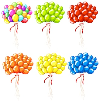 Ensemble de ballons colorés