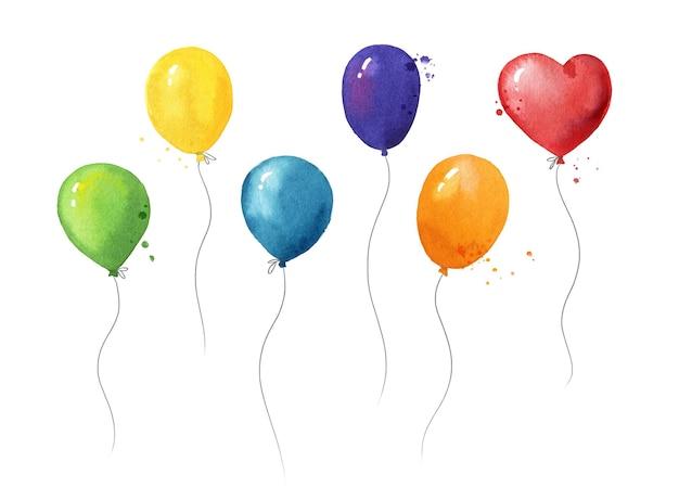 Ensemble de ballons flottants à l'hélium