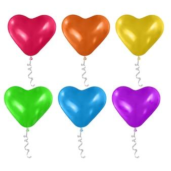 Ensemble de ballons en forme de coeur