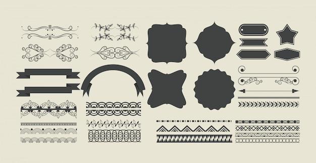 Ensemble de bande dessinée de ruban décoratif