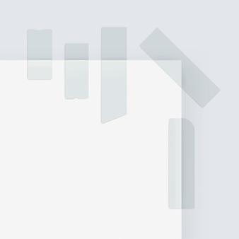 Ensemble de bandes adhésives de papier de masquage collant scotch isolé sur blanc