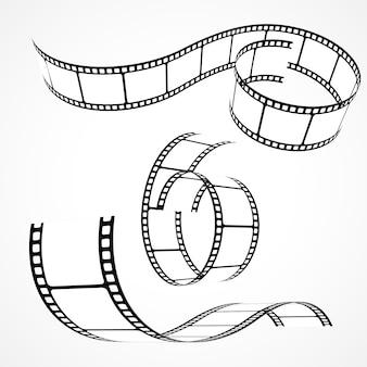 Un ensemble de bandes de film 3d
