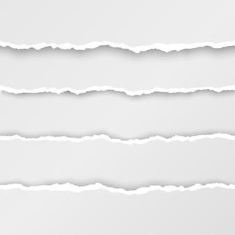 Ensemble de bandes de papier déchiré