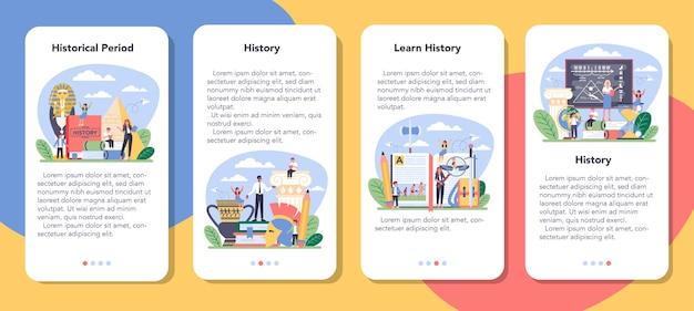 Ensemble de bannière d & # 39; application mobile historique