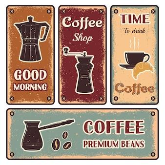 Ensemble de bannière de café