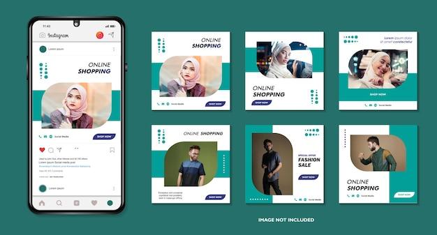 Ensemble de bannière carrée minimale modifiable pour les publications sur les réseaux sociaux et les publicités internet sur le web