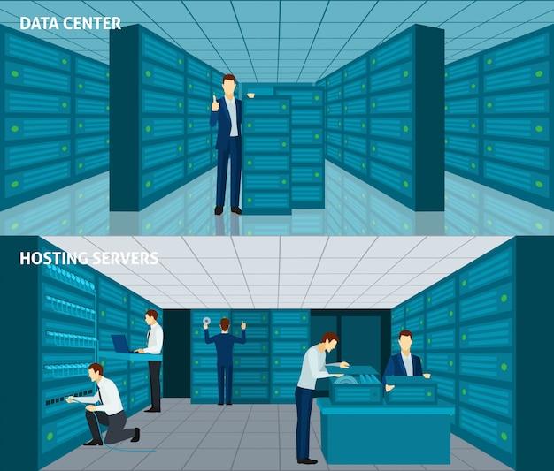 Ensemble de bannière de centre de données