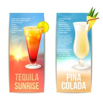Ensemble de bannière de cocktails