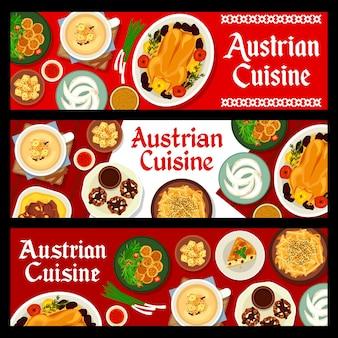 Ensemble de bannière de cuisine autrichienne