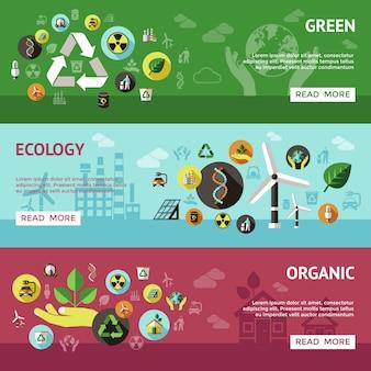 Ensemble de bannière d'écologie
