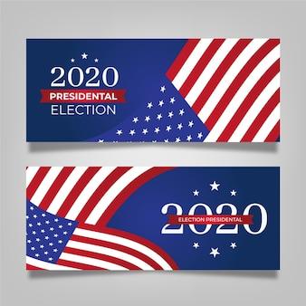 Ensemble de bannière de l'élection présidentielle américaine 2020