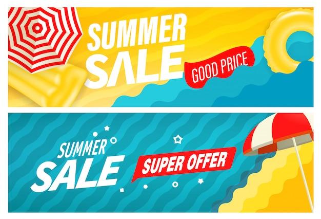 Ensemble de bannière d'été super vente