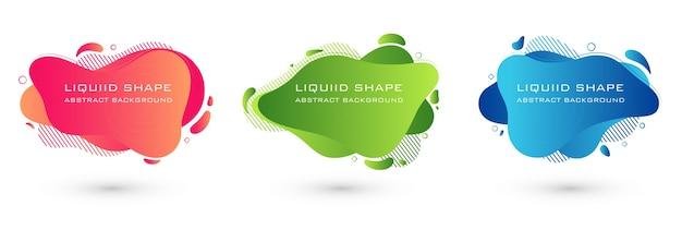 Ensemble de bannière de forme liquide abstraite