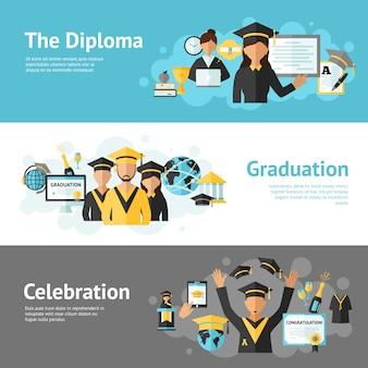 Ensemble de bannière de graduation