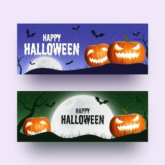 Ensemble de bannière halloween