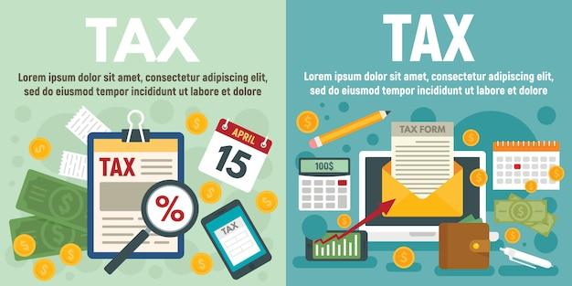 Ensemble de bannière d'impôt