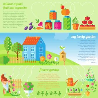 Ensemble de bannière de jardin