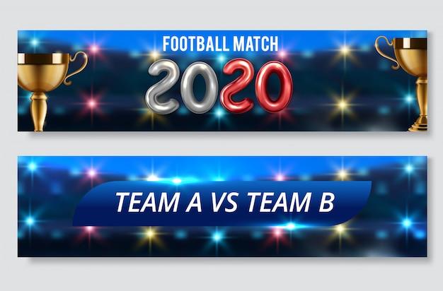 Ensemble de bannière de jeu de football ou de football