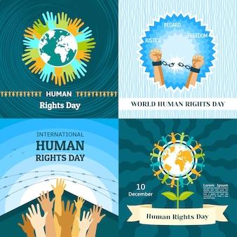 Ensemble de bannière de la journée des droits