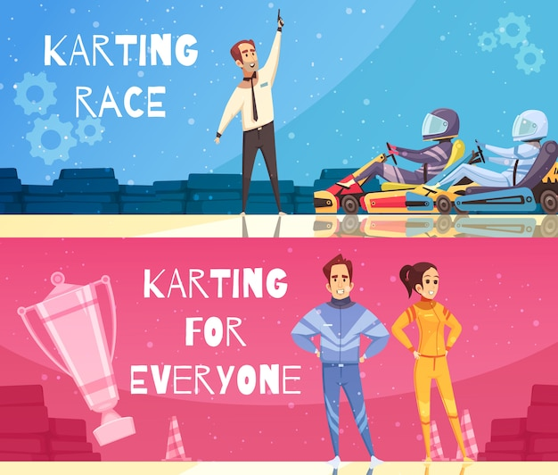 Ensemble de bannière de karting