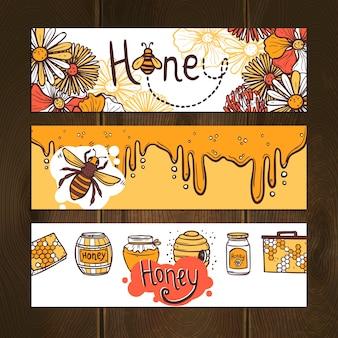 Ensemble de bannière de miel
