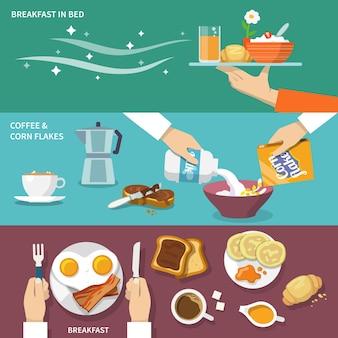 Ensemble de bannière de petit déjeuner