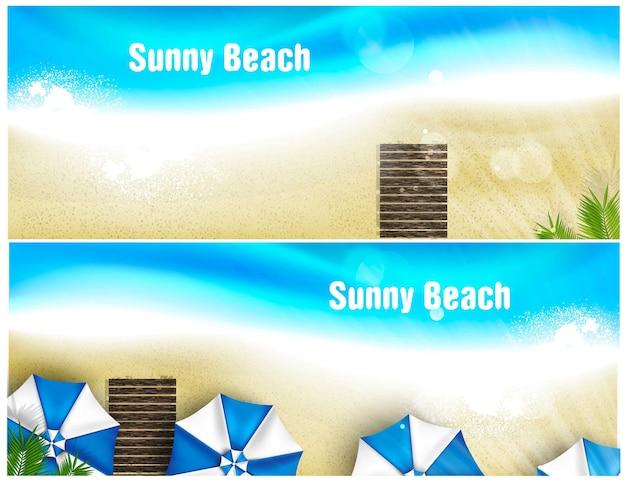Ensemble de bannière de plage.