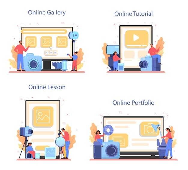 Ensemble de bannière de plate-forme en ligne