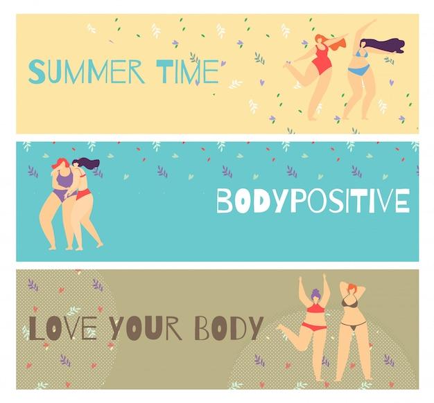 Ensemble bannière positive horizontal motive body positive