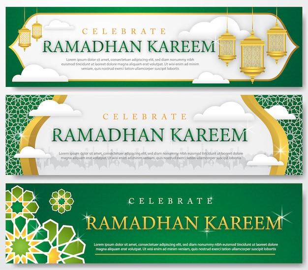 Ensemble de bannière de ramadhan