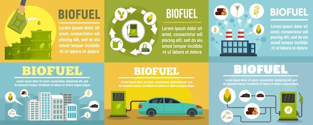 Ensemble de bannière de station de carburant bio