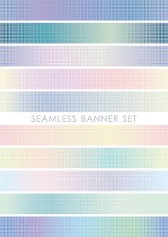 Ensemble de bannière transparente répétable horizontalement et verticalement.