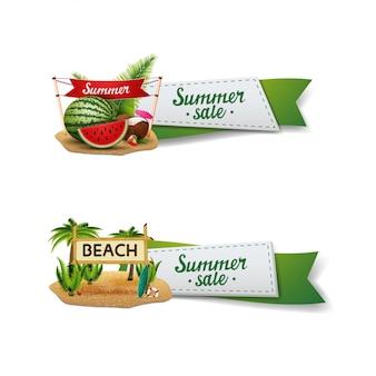 Ensemble de bannière de vente d'été