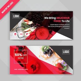Ensemble de bannière web de restaurant