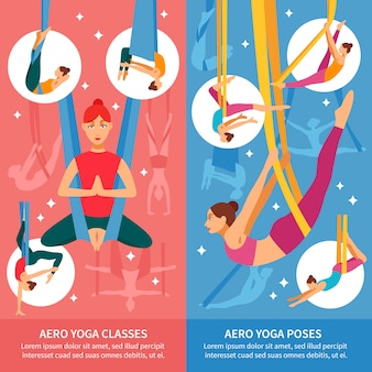 Ensemble de bannières aero yoga