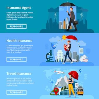 Ensemble de bannières d'assurance