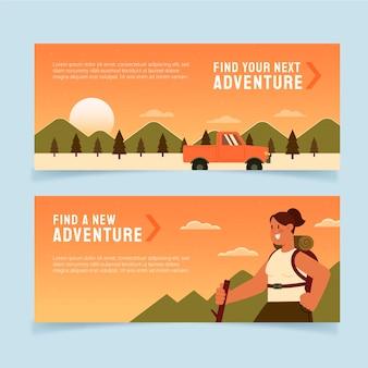 Ensemble de bannières d'aventure