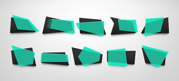 Ensemble de bannières bleues