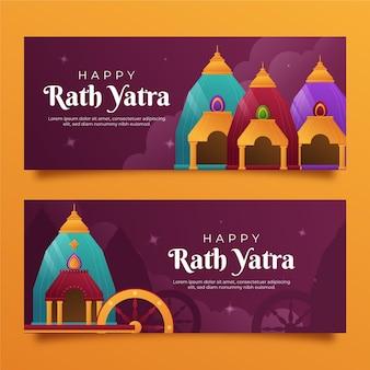 Ensemble de bannières dégradé rath yatra