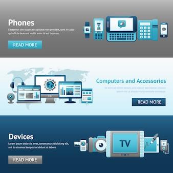 Ensemble de bannières design devices