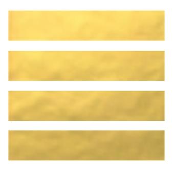 Ensemble de bannières en feuille d'or, en-têtes de sites web