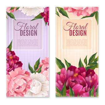 Ensemble de bannières florales